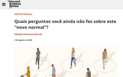 """Harvard Business Review – Quais perguntas você ainda não fez sobre este """"novo normal""""?"""